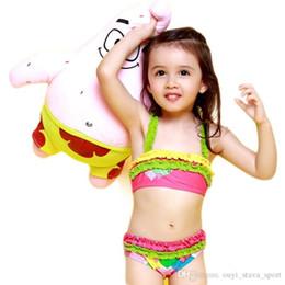 Wholesale Hot Girls Swim Suits - 2016 Hot Sale Children Swimwear Girls Tankini Bathing Suit Colorful Layered Stitching Swimming Summer Dress Kid Girl Tankini Set