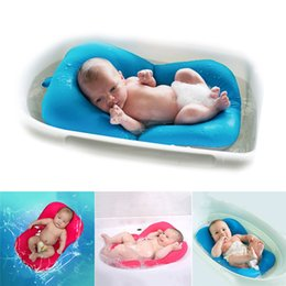 Wholesale Anti Skid Mats - High Quality Anti-skid Baby Bathing Mat Baby Bathtub Shower Bed Non-Slip Security Baby Bath Pad Newborn Seat Soft Cushion