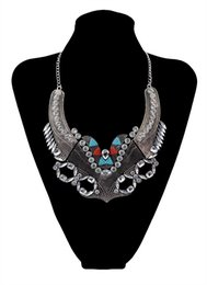 Wholesale Red Crystal Bib Necklace - New Fashion Silver Plated Charms Crystal Resin Flowers Bib Statement Pendant Necklaces for Women