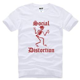 Wholesale Express S - SOCIAL DISTORTION funny punk t shirt mens cotton casual skull black t-shirt alibaba-express t shirt D15