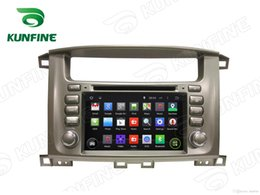 Wholesale Gps For Toyota Land Cruiser - Android 5.1 Quad Core Car DVD GPS Navigation Player for TOYOTA LAND CRUISER 100 with Radio Wifi steering wheel control 1024*600 Screen
