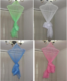 Wholesale Net Canopies - Student Mosquito Net Foldable Multi Color Lace Mesh Canopy Princess Round Dome Mosquitos Curtain Portable 7 6am C