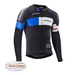 Wholesale Mountain Bike Long Sleeve - 2017 orbea winter thermal fleece pro team cycling jersey bicycle jersey cycling clothing long sleeve sportswear mountain bike jersey A1007