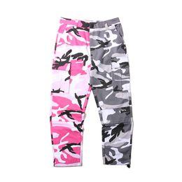 Wholesale Fashion Cargo Trousers - 2018 NEW Camo vertical stripes Patchwork Cargo Pants Men's Hip Hop Casual Camouflage Trousers Fashion Joggers Sweatpants 8 Color