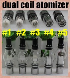 Wholesale Double Wicks Atomizer - Dual Coil Globe Atomizer Glass Tank Dome Wax For Vaporizer Dry Herb Double Ceramic Titanium Wick 2015 Top Fashion Direct Selling ATB029