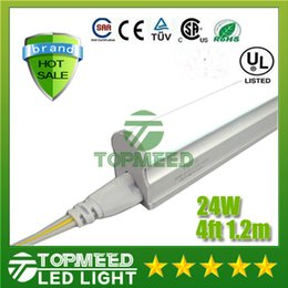 Wholesale T5 Led Light Tube Smd - CE UL Integrated 1.2m 4ft T5 22W Led Tube Light 96Leds 2400lm Led lighting Replace Fluorescent Tubes Lamp lights +Warranty 3Years X25