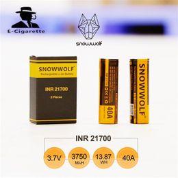Wholesale Electronic Cigarette Li - Original Sigelei Snowwolf INR 21700 Battery 40A 3.7V 3750mAh 13.88Wh Li-ion Battery for Electronic cigarette box md SNOWWOLF 200W PLUS