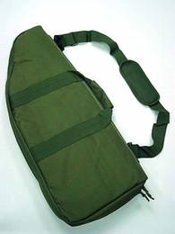 "Wholesale Rifle Sniper Case Gun Bag - Wholesale-29"" Tactical AEG Rifle Sniper Case Gun Bag Mag Pouch OD sports Bag"
