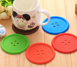 Wholesale Cup Holder Design - Button Design Cartoon Cup Mat Insulating Pad Coaster cup holder