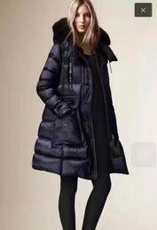 Wholesale Coat Skirt For Women - B Brand Winter Collection Winter Women Down Coat X-Long Down Parka 100% Real Raccoon Fur Coat for Women in European Style