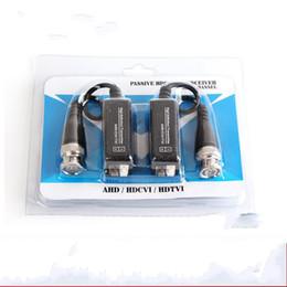 Wholesale Utp Passive Video Transmitter - High Definition Transmitter 720P 1080P AHD HDCVI HDTVI BNC To UTP Cat5 5e 6 Video Balun Passive Transceivers Adapter Transmitter 300m