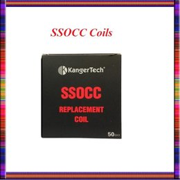 Wholesale Vertical Steel - Kan ger SSOCC Coils Stainless Steel Organic Cotton Coil SSOCC Replacement Coil VS OCC vertical Coils For Topbox mini SUBOX MINI-C