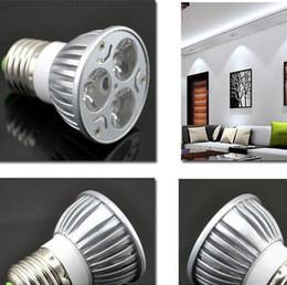 2019 plaque led 24w Le projecteur 3 * 3W 9W Dimmable LED d'ampoules de GU10 MR16 LED allume la lumière de tache de 85-265V E27 GU10 MR16 GU5.3 B22 E14 avec du CE RoHS