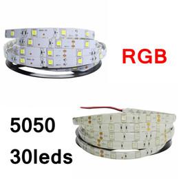 Wholesale Led Flat Rope Lighting - Edison2011 IP20 IP65 5050 SMD RGB Led Strip Light 30leds m Flexible Led Strip DC12V 150led 5M RGB Led Rope
