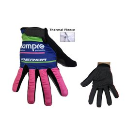 Wholesale Mountian Bikes - 2015 Lampre winter thermal fleece cycling long gloves bicycle sport mountian bike long finger winter cycling gloves full finger mtb bike