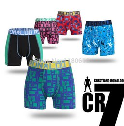 Wholesale 2PCS New next Children Cotton Underwear Boxer Briefs Boys Cotton Panties International brands CR7 Boy cotton Cuecas
