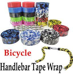 Wholesale Cycling Handle Bars - Bicycle Cycling Handle Belt Bike Cork Handlebar Tape Wrap Cover +2 Bar Plug Free Shipping Wholesale