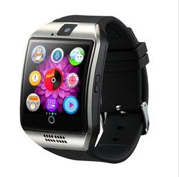 Wholesale Free Slot Sim - Smart Watches Q18 Bluetooth Smartwatch for Apple iPhone IOS Samsung Android Phone with SIM Card Slot Wristbands GPS Smart Watch Free DHL
