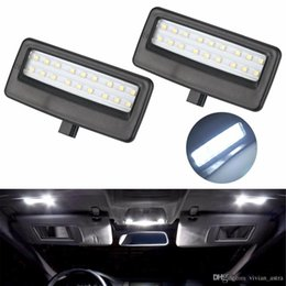 Wholesale Mirror License Plates - 2Pcs Car Styling Auto LED Vanity Mirror Lamp Reading Lights Bulbs for BMW F10 F11 F07 F01 F02 F03 5 Series 7 Series Xenon White