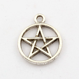 Wholesale Star David Silver Charms - Hot Sale ! 100pc Antique Silver Star of David charm Pendant 18 x22 mm DIY Jewelry
