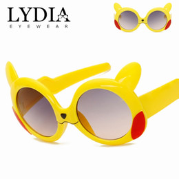 Wholesale Lovely Coats - New Brand Kids Sunglasses Child Baby Safety Coating Lovely Cartoon Sun Glasses UV400 Cute Eyewear Shades Infant oculos de sol L6144