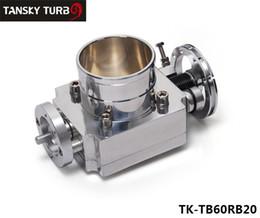 Nissan ad alte prestazioni online-TANSKY -Alta qualità JDM PER Nissan RB20 65MM Alluminio Turbo Corpo farfallato Alte prestazioni in alluminio JDM TK-TB60RB20
