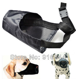 Wholesale Mouth Muzzles - 2015 Adjustable Safety Dog Muzzle Black Color Small Medium Large Training Pet Mouth Grooming No Bark Bite