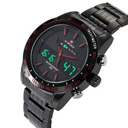Wholesale Wholesale Quartz Clock - NAVIFORCE Luxury Brand LED Quartz Sport Watch Men Stainless Steel Clock Digital Watch Army Military Wrist Watch