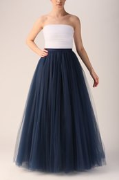 make girls tutu skirts Promo Codes - 2015 Hot Selling Girls' Long Skirts New Arrival Women Clothing Floor Length Skirts Tulle Tutu 7 layers Custom Made Women Skirts Cheap