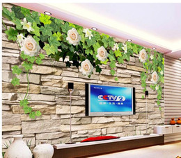 Wholesale Wall Stickers Peony - Papel de parede Simple 3D backdrop rose peony fashion mural wall sticker new large wallpaper wall paper costomize size 898721