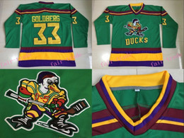 Wholesale Ice Stock - #33 Greg Goldberg Jersey,1996-06 Anaheim Mighty Ducks Movie D-5 Hockey Jerseys Greg Goldberg Mighty Ducks Jersey IN STOCK Green