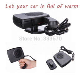Wholesale 12v Fan Auto Free Shipping - 12V 150W Auto Car Auto Vehicle Portable Dryer Heater Heating Cooler Fan Demister Defroster 2 in 1 Warm Hot Cold Free Shipping M17311