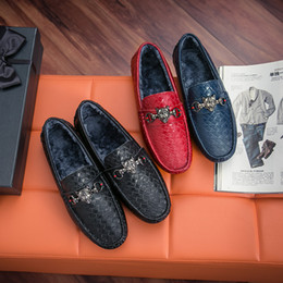 Wholesale Cut Work Dress - 2017 Luxury Mens Loafers Leather Shoes Dress Wedding Casual Walk Shoes Office Work Made in Italy Shoes Tops Size 38-44