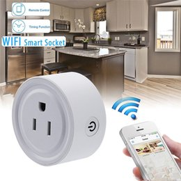 Wholesale Switch For Socket - Mini Smart Wifi Wireless Socket Plug Remote Control Power Strip Timing Switch for Smart Home Automation Electronic System