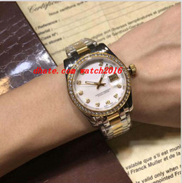 Wholesale Two Tone Luxury Watches - Luxury Watches Top Quality Two Tone Ladies 179383 Gold Diamond Dial Bezel 26mm 31mm Automatic Fashion Brand Women's Watch Wristwatch