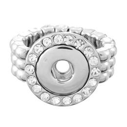 Wholesale Rhinestone Elastic Ring - NOOSA Fashion Elastic Rope Style DIY Chunk Snap Rhinestone Button Ring DIY Noosa Jewelry for Free Style