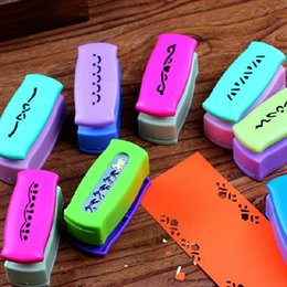 Wholesale Paper Hole Puncher - Gallery Decoration DIY Hole Punch Embossing Scrapbooking Boundary Perforator Paper Cutter Puncher Birthday Gift 5pcs SK763
