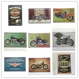 Wholesale home sale signs - Hot Sale Harley Retro Vintage Metal Tin sign poster for Man Cave Garage shabby chic wall sticker Cafe Bar home decor