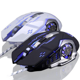 Wholesale Computer Dolls - L5 Wired Gaming Mouse 6 Buttons 3200 DPI Optical Games Mice Computer Wired Mouse For Pro Gamer Dolls LOL Laptop