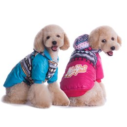 Wholesale Quality Dog Coats - Pet Dog Sweater Coat dog Clothes Autumn Warm Mixed color bread clothes waterproof Dogs Sweatershirt dog dress high quality Padded clothe