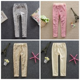 Wholesale girls gold tights - girl leggings children pink silver gold sequin leggings kids leggings cotton sequin pants girls kids spring autumn free shipping in stock