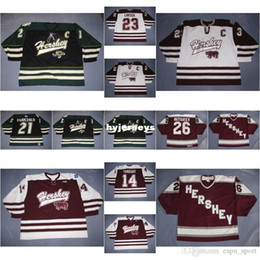 Wholesale Kelly S Kids - custom Mens Womens Kids 21 Kelly Fairchild 23 Brad Larsen 14 Alex Tanguay AHL Hershey Bears 100% Embroidery Custom Hockey Jerseys Goalit Cut
