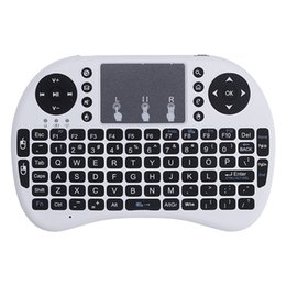 Wholesale Wireless Keyboard Mini Smartphone - Mini i8 Air Mouse Mini 2.4G Ultra Slim Wireless Keyboard For IOS or Android Windows PC ,smartphone,tablet pc computer