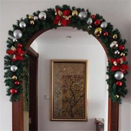 decorazioni del camino Sconti Camino di lusso a mantello di spessore Ghirlanda di Natale Pino Decorazione natalizia coperta 2.7M X 25CM Decorazione per feste di alta qualità