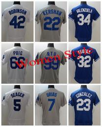 Wholesale Griffey S - New Stitched #22 Clayton Kershaw 5 Corey Seager Women Jersey 23 Adrian Gonzalez 35 Cody Bellinger 42 Robinson 66 Yasiel Puig Dodgers jerseys