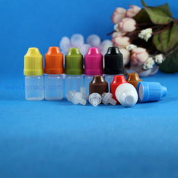 Wholesale Short Plastic Bottles - 3 ML dropper bottle 100 Pcs LDPE Plastic Dropper Bottles With Child Proof Caps & Tips Vapor Vape e Cig short nipple