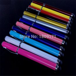 Wholesale Mini Stylus Pens Galaxy S3 - Wholesale-2 In 1 Touch Pen Stylus Ball Point Pen for Samsung Galaxy S3 S4 For iPhone 4 5 5S 5C 6 for iPad Mini Free Shipping! 500pcs lot
