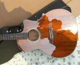 Wholesale Fishing Series - Custom K24&CE KOA acoustic electric guitar With Fish&man series K24 ce KOA guitar type shooting in estoqu guitars from china Free shipping