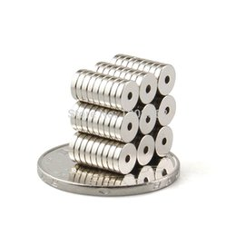 Wholesale Disc Magnet Hole - 40pcs Strong Magnets Dia 5.6x1.2mm hole 1.27mm N50 Rare Earth Neodymium ring Magnet