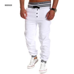 Wholesale High Street Mens Fashion Wholesale - Wholesale- HIRIGIN 2017 Mens Casual Jogger Dance Sportwear Baggy Harem Pants Slacks Solid Hip Hop high street Trousers Pants Sweatpants